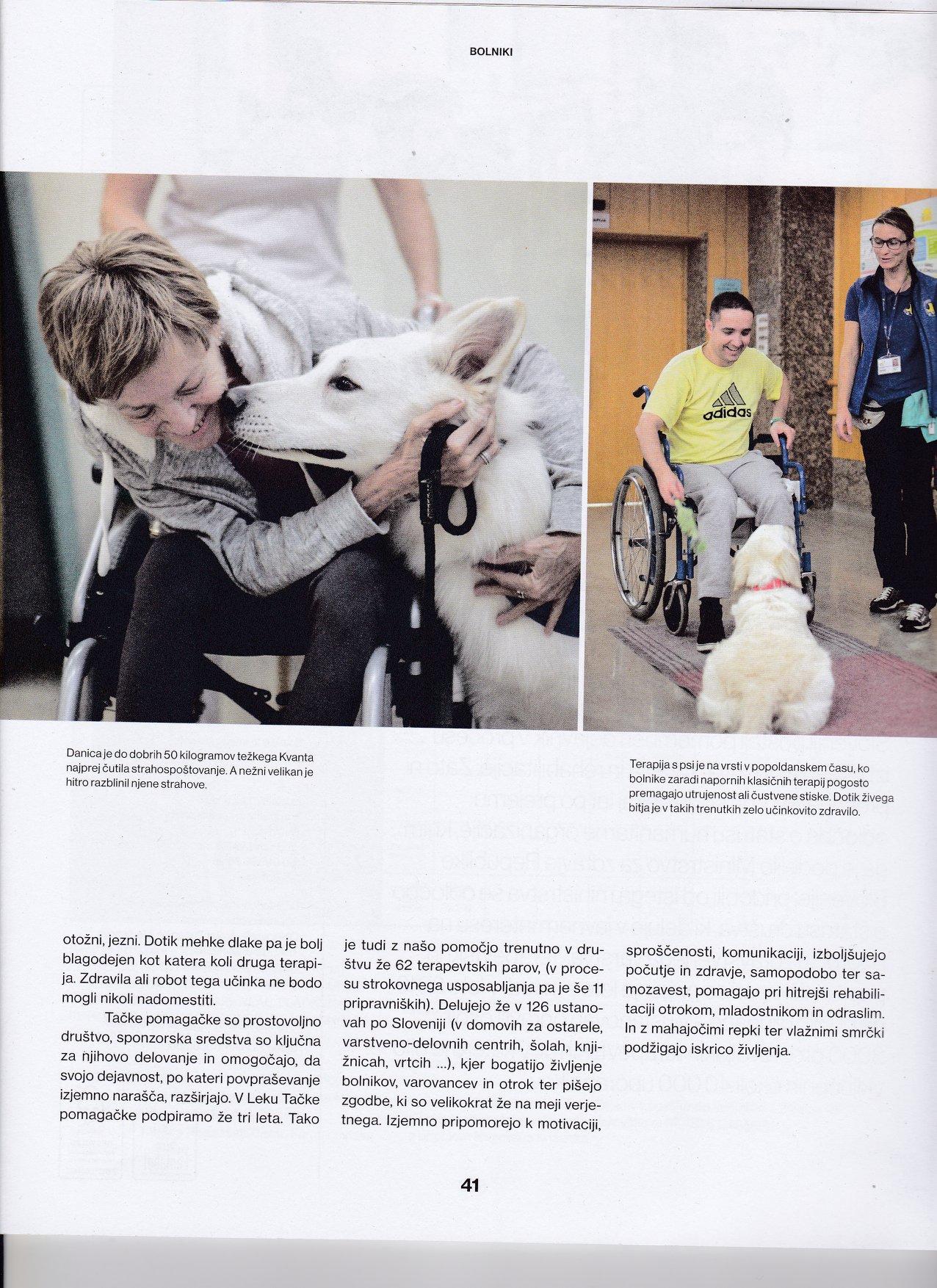 vom Weissen Unterberg   Dog therapy work